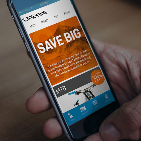 Canyon mobile email