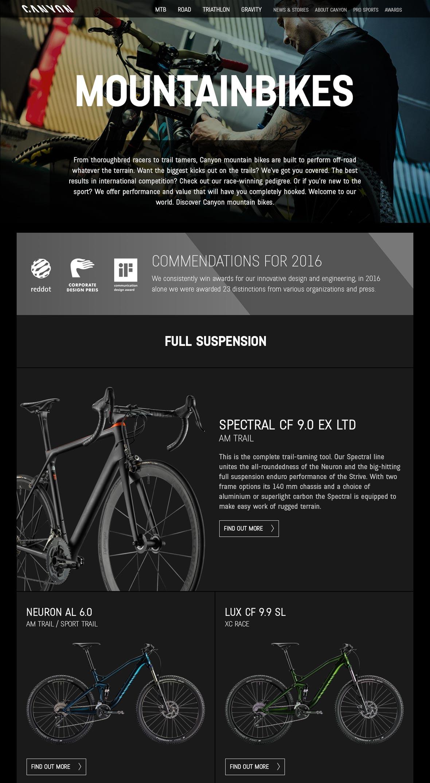 Canyon USA - Hinshaw Design Group - Web Design, Custom